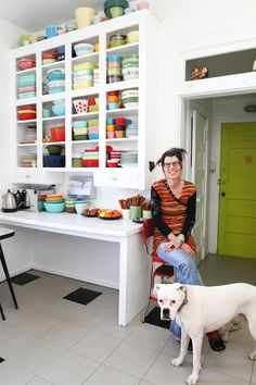 House Tour: Neon Colors in a Vintage Eclectic House | Apartment Therapy
