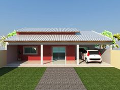 Modern Small House Design, House Front Design, Pool House Plans, Small House Plans, Cute House, My House, Indian Bedroom Decor, House Architecture Styles, House Construction Plan