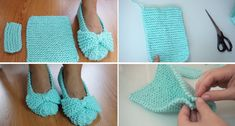 Easiest Slippers to Make – Crochet or Knit Let's take a look at one of the easiest ways to make a slippers. It is hard to label this tutorial as a crochet or knitting one. In reality all you …Easiest Slippers to Make – Crochet or Knit. Slip Stitch Crochet, Free Crochet, Knit Crochet, Flower Crochet, Crochet Jacket, Crochet Granny, Knitting Stitches, Knitting Designs, Knitting Patterns