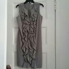 Calvin Klein light gray dress Worn once like new very pretty on. Calvin Klein Dresses