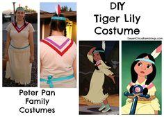 Tiger Lily Peter Pan Family Costume #Halloween #Disney