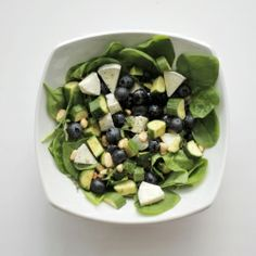blueberry, goat cheese, spinach salad