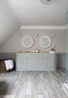 Baderomsmøbler fra Neptune Home Neptune Bathroom, Neptune Home, Fitted Bathroom, Bathroom Furniture, Double Vanity, Kitchen Cabinets, Porcelain Floor, Flooring, Driftwood
