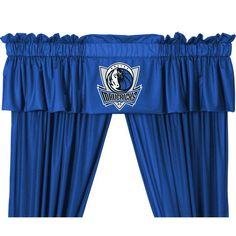 #oBedding - #Sports Coverage NBA Dallas Mavericks Jersey Window Valance - Basketball Team Logo Window Treatment - AdoreWe.com
