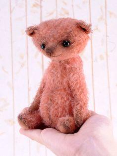 Tifannie, a OOAK Jointed Mohair Artist Bear. by merrygobears on Etsy https://www.etsy.com/listing/84193037/tifannie-a-ooak-jointed-mohair-artist