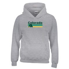 Retro Camping - Colorado Youth Hoodie/Sweatshirt