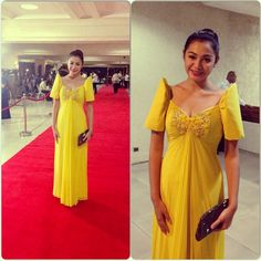 @chareepineda Modern Filipiniana Gown, Filipiniana Wedding, Entourage Gowns, Filipino Wedding, Elegant Gown, Evening Dresses, Formal Dresses, Power Dressing, Gowns Of Elegance