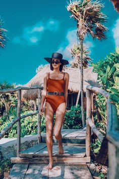Fashion Look Featuring Solid & Striped One-Piece Swimwear and Le Specs Sunglasses by obsessionsnow - ShopStyle Le Specs Sunglasses, City Outfits, Fashion Outfits, Water Shoot, Earthy Style, Bahama Mama, How To Pose, One Piece Swimwear, Tulum