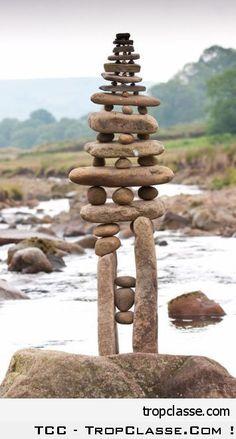 Sculpture zen sur pierre