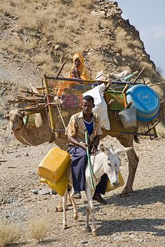 Eritrea is mainly arid and hot, moving and the search for water is normal for desert dwellers...