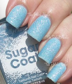 Bleu sunlight nails  The PolishAholic: Sally Hansen Sugar Coat: Royal Icing