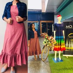 Order contact my WhatsApp number 7874133176 Kurti Neck Designs, Kurta Designs Women, Kurti Designs Party Wear, Frock Fashion, Indian Fashion Dresses, Fashion Outfits, Casual Frocks, Frocks And Gowns, Ikkat Dresses