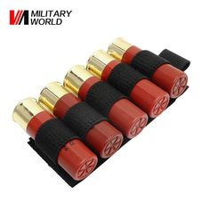 Airsoft Tactical Hunting Shotgun Shell Ammo Carrier Holder 5 Round 12Ga Military Paintball Rifle Gun 5 Round Ammo Carrier Pouch
