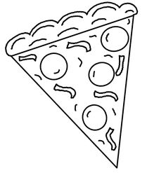 slice pizza coloring pages for kids - Pizza Coloring Pages