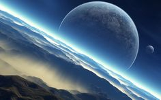 Moon in the sky wallpaper, Moon in the sky Fantasy HD desktop wallpaper Sky Moon, Hd Desktop, Outer Space, Night Skies, Planets, Universe, Photoshop, Earth, Fantasy