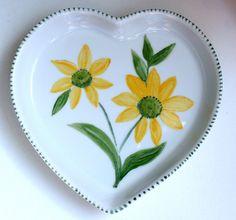 Prato Flores Coração