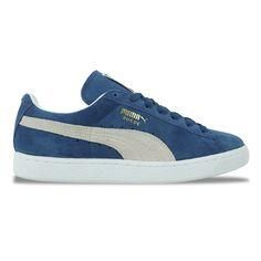Puma Suede Classic Eco Trainers in Ensign Blue White 7fd8c8e5b