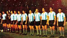 EQUIPOS DE FÚTBOL: SELECCIÓN DE ARGENTINA contra Inglaterra 06/06/1964