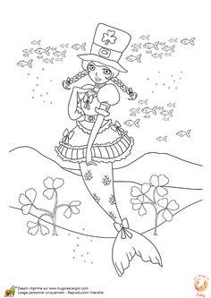 Dessin à colorier de la fée Blanche Neige entourée par ses
