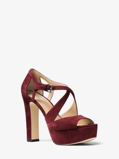 The platform and tall block heel of this strappy sandal take it into '70s-chic territory that feels so fresh and glamorous this season. Supple suede enriches the design, while its neutral hue makes it the perfect choice for any ensemble.