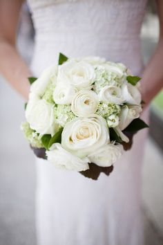 wintery white bouquet at inspiration shoot in the French Alps from Smetona Photo and Haute Weddings | via junebugweddings.com