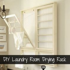 DIY: Laundry Room Drying Rack I really wanted to save the money and build a laundry rack for Megan. I knew I could do it with a pictur. Laundry Room Drying Rack, Drying Rack Laundry, Laundry Room Organization, Organization Hacks, Laundry Storage, Laundry Hanger, Organizing Ideas, Small Laundry, Organization Ideas
