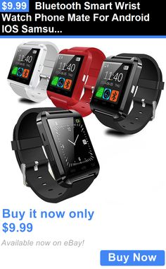 Smart Watches: Bluetooth Smart Wrist Watch Phone Mate For Android Ios Samsung Iphone Lg BUY IT NOW ONLY: $9.99
