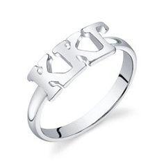 Sterling Silver Kappa Kappa Gamma Letter Ring. WANT SO BAD