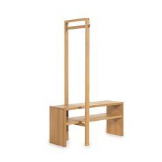 Die Garderobe Von Grüne Erde Bietet Sitz  Und Ablagefläche Sowie  Aufhängemöglichkeiten In Einem. Das Holz Ist In Der Ausführung Buche Und  Eiche Erhältlich U2026