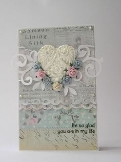 Lovely resin heart. Good for a wedding card.