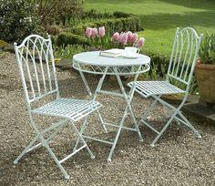 Versailles Metal Garden Furniture Bistro Set - GardenSite.co.uk
