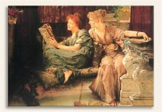 SIR LAWRENCE ALMA TADEMA, Sohbet, Tarih: 1892, Yer: Cincinnati Art Museum