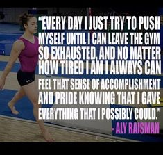 Carpe Diem Gymnastics Inspirational Quote by Aly Raisman Gymnastics Rips, All About Gymnastics, Gymnastics Skills, Gymnastics Workout, Olympic Gymnastics, Gymnastics Stuff, Gymnastics Problems, Gymnastics Quizzes, Gymnastics Crafts