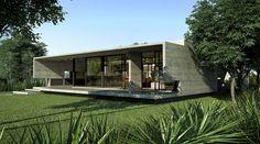 Exterior-05_R Exterior-03_R Besonias Almeida arch  moderne betong/tre / natur / sleek lines, overdekke uteplass