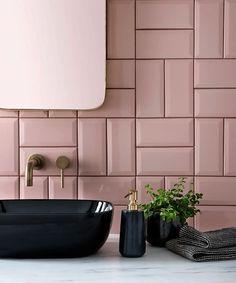 Home Interior Scandinavian .Home Interior Scandinavian Pink Tiles, White Tiles, Topps Tiles, Downstairs Toilet, Bathroom Interior Design, Interior Paint, Bathroom Inspiration, Design Inspiration, Home Decor Accessories
