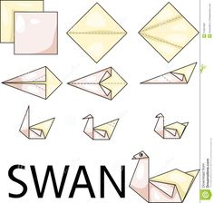 Origami Swan Royalty Free Stock Images - Image: 31697569
