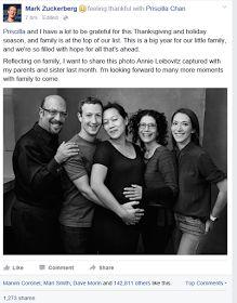 Mark Zuckerberg Shares Family Photo For Thanksgiving