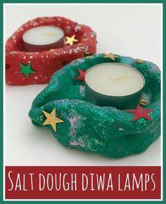How to make salt dough diwa lamps