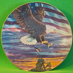 """1996 PVA """"Home of the Brave"""" collector plate by Don Patterson"""