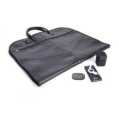 ROYCE Luxury Travel Set Garment Bag with Bluetoothbased Tracking Device for Locating Luggage Portable Power Bank and International Adapter  Black * Details can be found by clicking on the image.