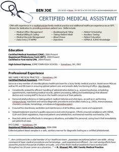medicalassistantresumeobjectives medical assistant resume sample - Software Resume Objective