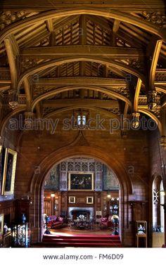 Kings Hall, Bamburgh Castle, Northumberland Stock Photo