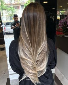 Dark Ombre Hair, Ombre Blond, Best Ombre Hair, Ombre Hair Color, Balayage Brunette To Blonde, Dyed Blonde Hair, Brunette Hair, Hombre Hair, Cabelo Ombre Hair