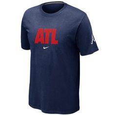 Nike Atlanta Braves ATL Local T-Shirt - Navy Blue
