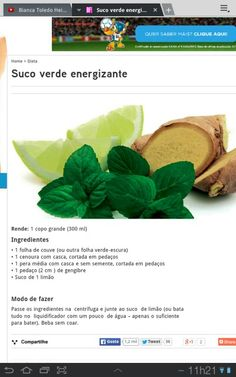 Suco verde energizante