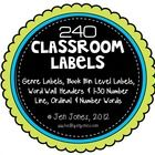 FOR BOY TEACHERS TOO! Clean and simple design, round labels for every area of your classroom.  This round scalloped set of classroom labels (5.5 in...
