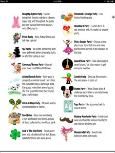 Best prom themes propose list two of party themes so much to love about mixing it Kitty Party Themes, Adult Party Themes, Prom Themes, Cat Party, Bunco Themes, Bunco Ideas, Party Ideas, Checklist Template, Menu Template