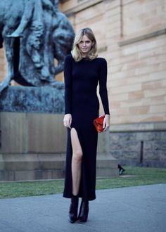 Black Dress - Tuula Vintage