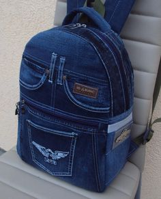 do Denim Backpack – SkillOfKing. Diy Jeans, Jeans Denim, Denim Bag, Jean Backpack, Backpack Bags, Fashion Backpack, Mochila Jeans, Backpack Pattern, Backpack Tutorial