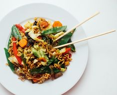 Japchae, Risotto, Ethnic Recipes, Food, Lasagna, Red Peppers, Essen, Meals, Yemek